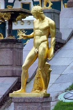 One of the golden men in Peterhof