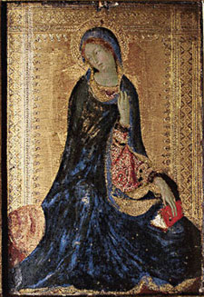 Simone Martini. Madonna from the scene of Annunciation